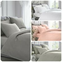 Appletree 100% Percale Cotton Duvet Cover and Pillowcases - 4 Colours -All Sizes
