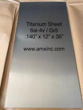 Titanium Sheet 6al 4v 140 X 12 X 36