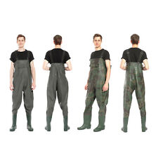 Waterproof Breathable Anti-Slip PVC Fly Fishing Chest Waders Size 8-11