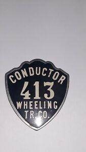 Antique Wheeling WV Conductor Badge