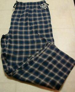 Men's Elastic Waist Flannel Lounge/Sleep Pants: S-M-L-XL-2XL