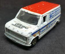 "Vintage 80s Diecast Toy Car ERTL Ford  Van Ambulance ""Cannonball Run"" Hong Kong"