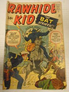Marvel RAWHIDE KID #25 (1961) The Twister, The Bat Strikes, Jack kirby, Stan Lee
