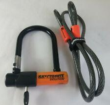 Kryptonite Evolution Bicycle U Lock with 4 Foot Cable