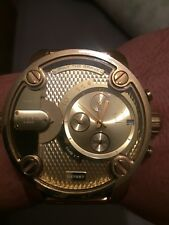 mens large diesel gold watch