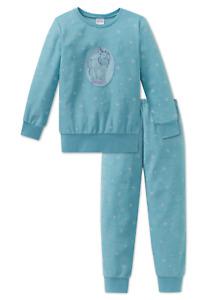SCHIESSER Mädchen Pyjama lang FROTTEE PFERD MAGIC 104 116 128 140 Schlafanzug