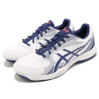 Asics Gel-Task White Blue Men Volleyball Badminton Shoes Sneakers B704Y-100