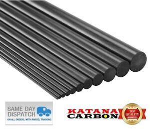 6 x Diameter 1mm x Length 800mm (0.8 m) Premium 100% Carbon Fiber Rod (Pultruded
