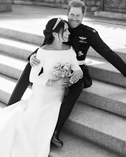 "PRINCE HARRY AND MEGHAN MARKLE WEDDING PIC BLACK & WHITE FRIDGE MAGNET 5"" X 3.5"""