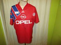 "FC Bayern München Adidas Heim Trikot 1991-1993 ""OPEL"" + Handsigniert Gr.M"