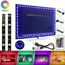 RGB LED Backlight TV PC Hintergrundbeleuchtung USB Band Leiste Fernbedienung Kit