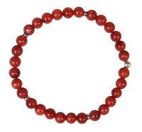 SCHAUM-KORALLE Edelstein-Armband Stretch Perlenarmband D163