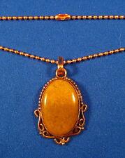 """Attractive Bloodstone Jasper 1-3/4"""" Solid Copper Pendant & 18"""" Chain   BLON4B"""