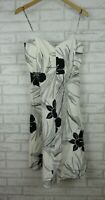 Country Road A-line dress Black, white floral print Exposed zip Sz 10