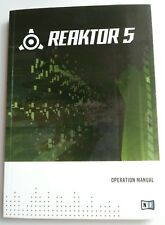 Native Instruments Ni Reaktor 5 Owners Manual Reference Book - New Condition