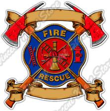 """Firefighter Rescue Fire Flame Fireman 911 Car Bumper Vinyl Sticker Decal 4.6"""""""