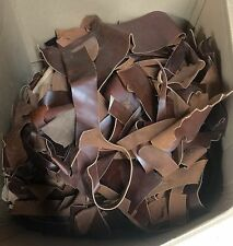 Thick Brown Leather Scraps Cow Hide 1 Pound Random Sizes Made In USA
