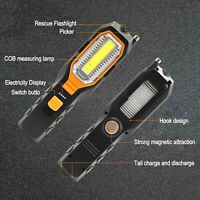 LED Work Light COB Car Garage Inspection Lamp Magnetic Torch USB Rechargeable UK