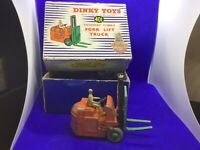 Vintage Dinky 401 Fork lift truck in original box