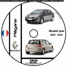 WORKSHOP MANUAL MANUALE OFFICINA RENAULT MEGANE 2 MY 2002 - 2010 SERVICE  CD DVD