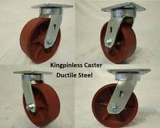"6"" x 2"" Swivel Casters Kingpinless w/ Ductile Steel Wheel (4) 2000lb each"