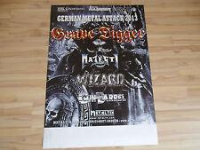 * Grave Digger 2013  * Orginal  Concert Poster DIN A 1 = 84 x 60 cm