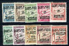 ST PIERRE et MIQUELON PORTO 1925 Yvert TT 10-19 ** POSTFRISCH  SATZ (F4064