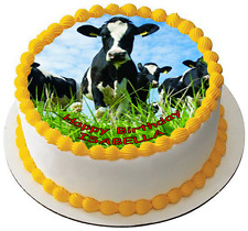 COW 7.5 PREMIUM Edible ICING Cake Topper CAN BE PERSONALISED D1