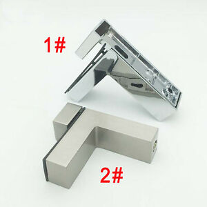 2x Alloy Glass Clamps/Fixing Clips For Handrails Balustrades For 5~20mm Glazing