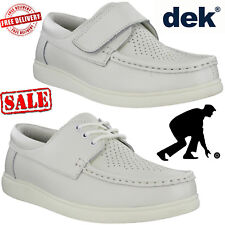Leather Lawn Bowling Trainers Lightweight Mens Womens Unisex White Bowls Shoes