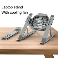 Foldable Laptop Tablet Stand With Cooling Fan Notebook Holder Heat Cooler Pad