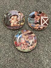 """Hummel Danbury Mint Little Companions Collectible 3 Plate Set 1989-90 #J2117 8"""""""