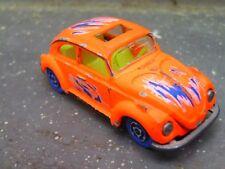 Vintage Majorette 203 VW 1302 Käfer ULTRA RARE VARIANT neonorange blaue Räder !