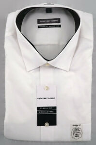 Geoffrey Beene Dress Shirt Mens XXL 2XL 18.5 34/35 Classic Fit Wrinkle Free NWT