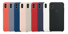 Original Apple iPhone X  XS und XS MAX Silicone Case Silikon Hülle ALLE FARBEN