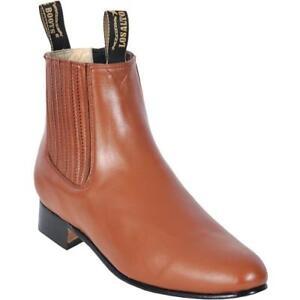 Los Altos Mens Charro Botin Short Ankle Genuine Deer Leather Boots