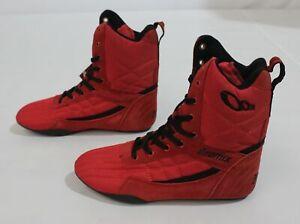 Otomix Mens Super Hi Pro TKO Bodybuilding Boxing Gym Shoe FR7 Red Size US:9 UK:8