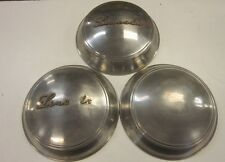 1947 1948 Lincoln Dog Dish style Vintage HUBCAPS Chrome Lincoln Script Hub Caps