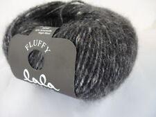 Lana Grossa LALA Berlín Fluffy 50g color 107 = GRIS OSCURO MOTEADO