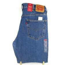 Levis 550 Jeans Mens Relaxed Fit Red Tab Zipper Classic Medium Stonewash 38 x 29