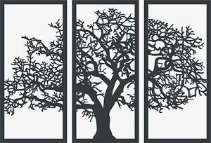 Dxf file CNC Vector DXF Plasma Router Laser Cut DXF-CDR Files - Tree wall panel