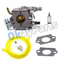 CARBURETOR CARB FOR HUSQVARNA CHAINSAW 136 137 141 142 36 41 142E  SPARK PLUG