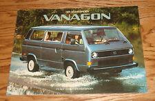 Original 1984 Volkswagen VW Vanagon Sales Brochure 84