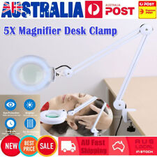 Magnifying Lamp 5 Inch SMD 5 Diopter magnifier desk Clamp light White 5X AU SHIP