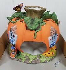 PartyLite Harvest Pumpkin Tealight House P7316 Halloween Fall