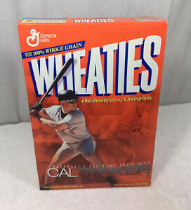 Cal Ripken Jr  Baseballs All Time Iron Man Wheaties Box Baltimore Orioles HOF