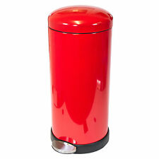 Addis 30 Litre Red Stainless Steel Pedal Bin Kitchen Accessory Rubbish Waste