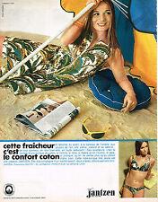PUBLICITE ADVERTISING 045  1969  JANTZEN  tenue de plage maillot de bain