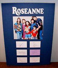 Roseanne Show Cast Autographed Display Index Cards Original Cast 18x24 Authentic