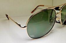Gold Foster Grant Pilot Aviator Sunglasses Quality Green Lens Colonel 100% UV